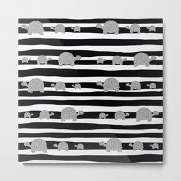 Silver turtle pattern Metal Print