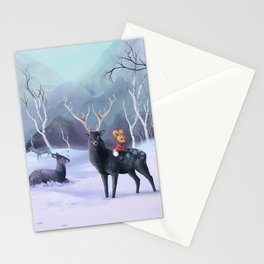fox and deer Stationery Cards