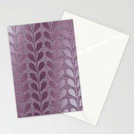 Beautiful,purple,metallic,leaf,pattern,modern,elegant,chic,home decor,floral,girly Stationery Cards
