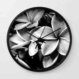 Tropicals B&W Wall Clock