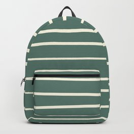 Dover White 33-6 Hand Drawn Horizontal Lines on Thistle Green 22-18 Backpack