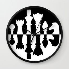Chess Set Wall Clock