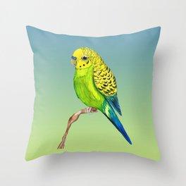 Cute budgie Throw Pillow