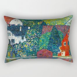 "Gustav Klimt ""Houses In Unterach On The Attersee"" Rectangular Pillow"