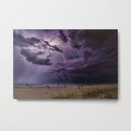 Lightning Storm Tempest Weather Metal Print