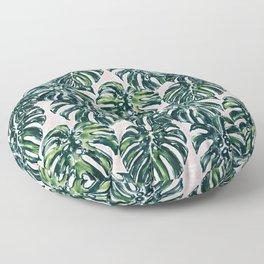 DELICIOSA Green Blush Monsteras Floor Pillow