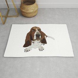 Basset Hound Dog Rug