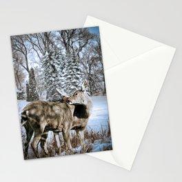 Nuzzling Deer Stationery Cards