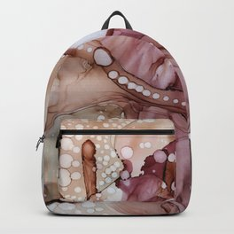 Brown Red Fluid abstract , Acrid Backpack