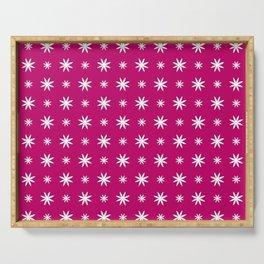 stars 95- purplish pink Serving Tray