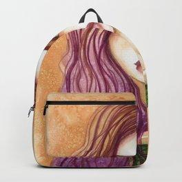 Original Watercolor Illustration by Jenny Manno Art/kara Backpack