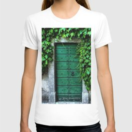 Green Doorway with Ivy Photograph T-shirt