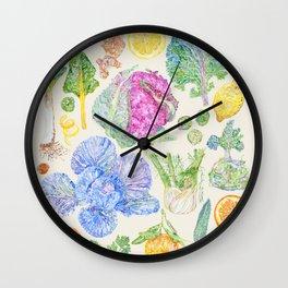 Winter Harvest - Neutral Wall Clock