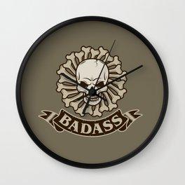 Badass skull Wall Clock
