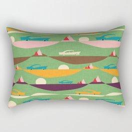 50s Retro Road Trip Green #midcenturymodern Rectangular Pillow