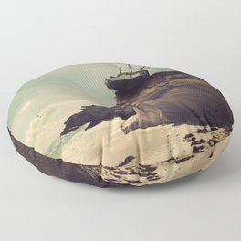 The Edge of the World Floor Pillow