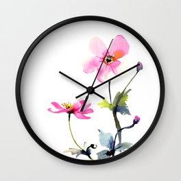 Japanese anemones Wall Clock
