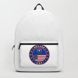 Nevada, USA States, Nevada t-shirt, Nevada sticker, circle Backpack