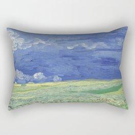 Wheatfield under Thunderclouds Rectangular Pillow