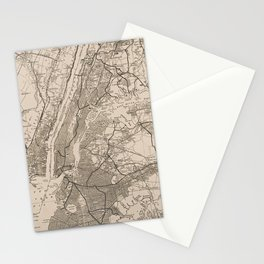 New York City Map Stationery Cards