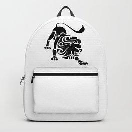 Leo Lion Symbol Astrology Sign Zodiac Black Backpack