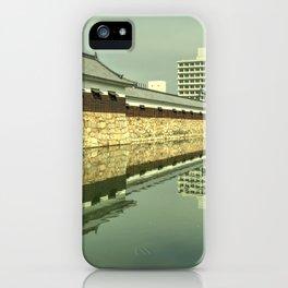 Hiroshima Castle Reflections iPhone Case
