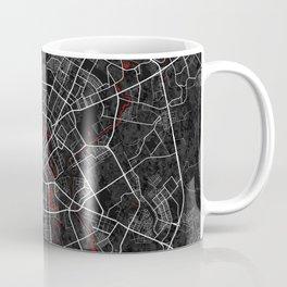 Minsk City Map of Belarus - Oriental Coffee Mug