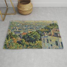 Classical Masterpiece 1900 'Paris - Montmartre' by Maximilien Luce Rug