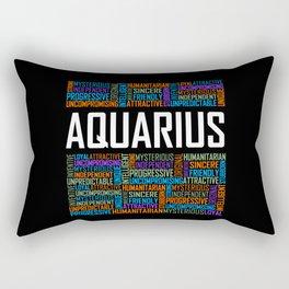 Aquarius - Words Rectangular Pillow