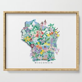 Wisconsin Wildflowers Serving Tray