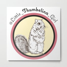Little Thumbelina Girl: meerkat circle Metal Print