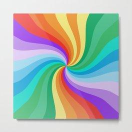 Abstract Twirl Rainbow 1339 Metal Print