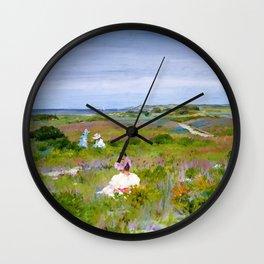 William Merritt Chase - Landscape, Shinnecock, Long Island - Digital Remastered Edition Wall Clock