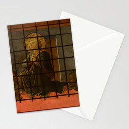 "Fra Filippo Lippi  ""Saint Mamas in Prison thrown to the Lions"" Stationery Cards"