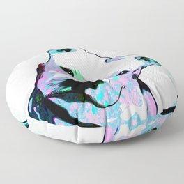 Pit bull - Puzzled - Pop Art Floor Pillow