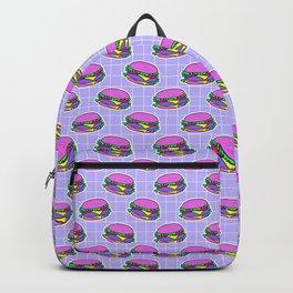 Psychedelic burger / Blue Grid Backpack
