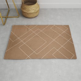 Overlapping Diamond Lines on Cinnamon  Rug