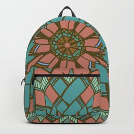Geometric Feather Weave Backpack