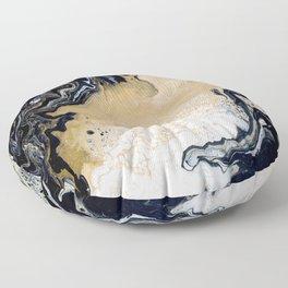 Black Gold: Acrylic Pour Painting Floor Pillow