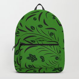 pattern with flowers and leaves hohloma style  Backpack