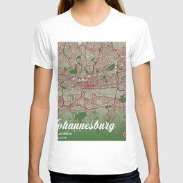 Johannesburg - South Africa Christmas Color City Map T-shirt