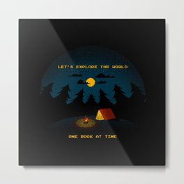 Let's Explore the World Metal Print