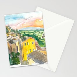 Montepulciano Italy View Of Tuscany Stationery Cards