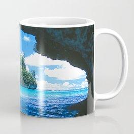 Exotic Palau Islands: View From Treacherous Ocean Cave Coffee Mug
