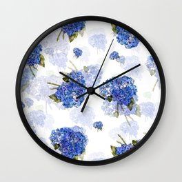 Cape Cod Hydrangea Nosegays Wall Clock