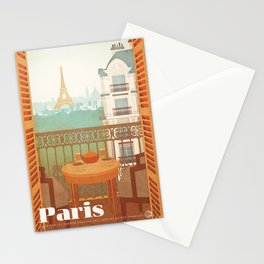 Paris, France - Travel Poster Stationery Cards