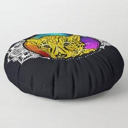 Forever Wild- The Jaguar Floor Pillow