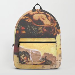 Goat Chariot & Grapes Backpack