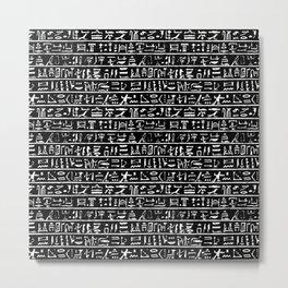 Egyptian Hieroglyphics // Black Metal Print