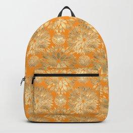 Golden Chrysanthemum flowers Backpack